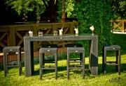 Lauko valgomojo baldų komplektas Geniale