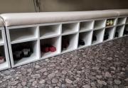 Minkšti suoliukai su batų dėže